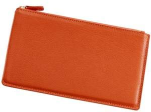 Large Flat Case 'Bright Orange' Leather by Graphic ImageTM - by Graphic Image