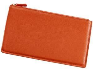 Large Flat Case 'Bright Orange' Leather by Graphic ImageTM -