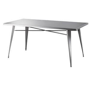 ステンレス製ダイニングテーブル/リビングテーブル 【幅151cm】 STN-334 〔ディスプレイ家具 什器〕 B07PFBXSVN