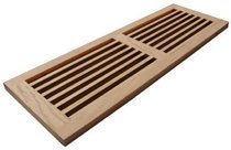 WELLAND® 8 Inch x 24 Inch Maple Hardwood Register Cold Air Return Wall Vent Unfinished