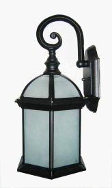 (Whitfield Lighting OWL84FR-BK Tyler Seven-Inch One-Light Outdoor Light, Black with Frosted Glass, Black Finish with Frosted Glass Glass)