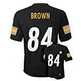 Antonio Brown Pittsburgh Steelers #84 NFL Youth Mid-tier Jersey Black (Youth Medium 10/12
