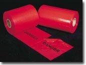 Mutual 14667 Polyethylene Tear-Off Printed Traffic Warning Flag, Legend ''DANGER'', 1500' Length x 12'' Width, Black on Red by Mutual Industries
