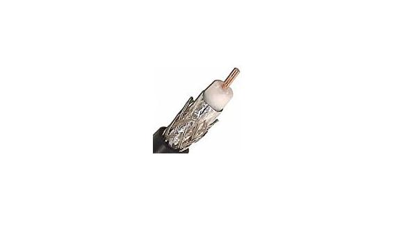 1 Reel RG11//U Coaxial Cable 14 AWG Solid Copper-Clad Steel AL Foil /& 60/% AL Braid Direct Burial for CATV 500FT Reel Reel of 500 Feet Black