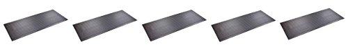 SuperMats Heavy Duty P.V.C. Mat for Treadmills/Ski Machine (2.5 Feet x 6 Feet) (5 Pack)