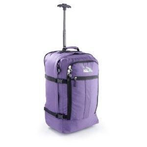 Cabin Max trolley - Zainetto bagaglio a mano/da cabina, approvato. Il trolley da viaggio PIÙ LEGGERO AL MONDO - 44 litri - dotato di ruote. Appena 1.7KG - VIOLA