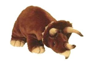 Small Plush Triceratops, used for sale  Delivered anywhere in USA