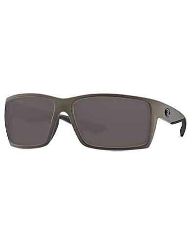 Lens Plastic Gray (Costa Reefton Plastic Frame Gray Plastic Lens Unisex Sunglasses RFT198OGP)