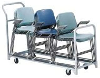 "product image for Raymond Products 67""L x 22""W x 43-1/4""H Gray Folding/Stacked Chair Cart, 300 lb. Load Capacity - 630"