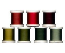 (YLI 100wt Silk Thread for Applique, 7 Spools of 200m Each - Elly Sienkiewicz Collection #2 - ''Classic Christmas'' 202-10-ES2)