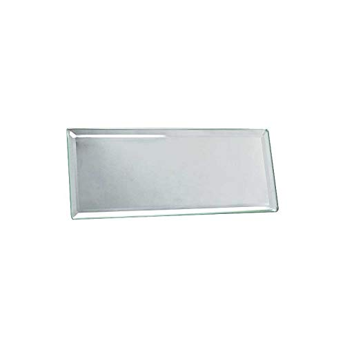 MACs Auto Parts 28-21921 Model A Inside Rear View Mirror Glass - 2-1/2 X 6 - Beveled Edges - Offers Better Visibility