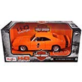 Maisto New 1:25 W/B Harley Davidson Collection - Orange 1969 Dodge Charger R/T Diecast Model Car