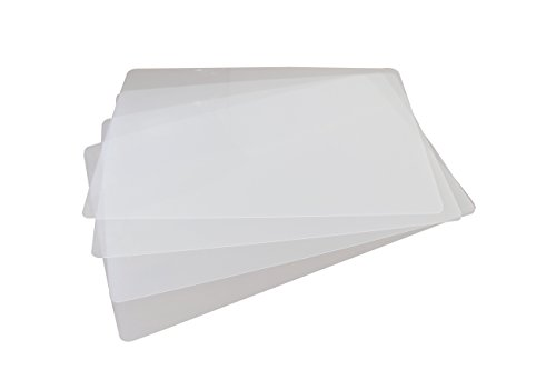 Sterling for Life Clear Placemats for Table, Dining and Kitchen, Made in USA (Set of 4)