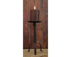 Primitive Black Pillar Candle Holder, 10