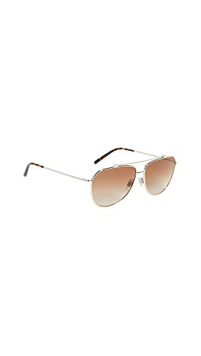 Dolce & Gabbana Women's Wire Wrapped Aviator Sunglasses, Gold Silver/Brown, One - Wrapped Wire Sunglasses
