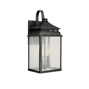Capital Lighting 9112OB Outdoor Wall Lantern with Seeded Glass Shades, Old Bronze Finish