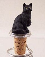 Conversation Concepts Shorthaired Black Tabby Cat Bottle Stopper