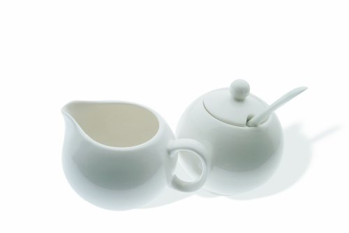 Maxwell and Williams Basics European Sugar and Cream Set, White