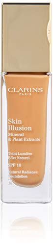 (Clarins Skin Illusion Natural Radiance Foundation with SPF 10, No.112 Amber, 1.1 Ounce )