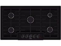 Bosch NGM8665UC 800 36″ Black Gas Sealed Burner Cooktop