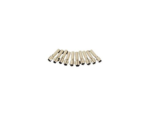 TEMO 10 piece Durable Shiny 1/8 inch (3.2mm) Rotary Tool Collet Bit #480 fit Dremel and ()
