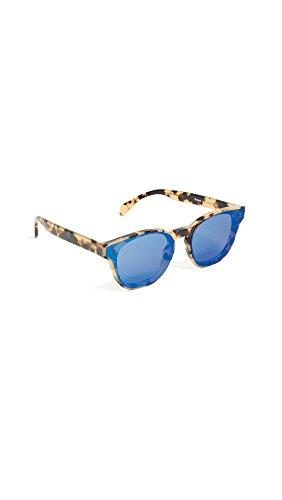 Illesteva Men's Martinique Sunglasses, Tortoise/Blue Mirror, One - Illesteva Sunglasses Tortoise
