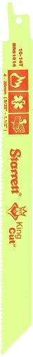 (Starrett BR81014-20 Bi-Metal Unique Straight King Cut Fire, Rescue and Demolition Reciprocating Saw Blade, 0.050