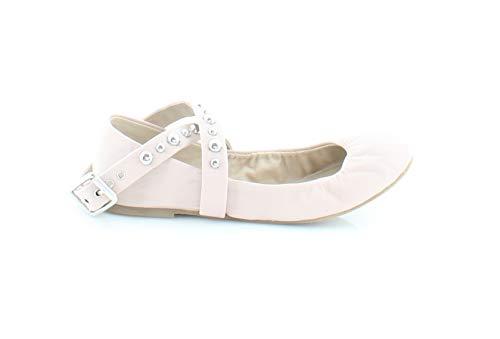 Studded Flat Ballerina - Steve Madden Womens Mollie Studded Ballet Flat Shoes, Blush Leather, US 5.5