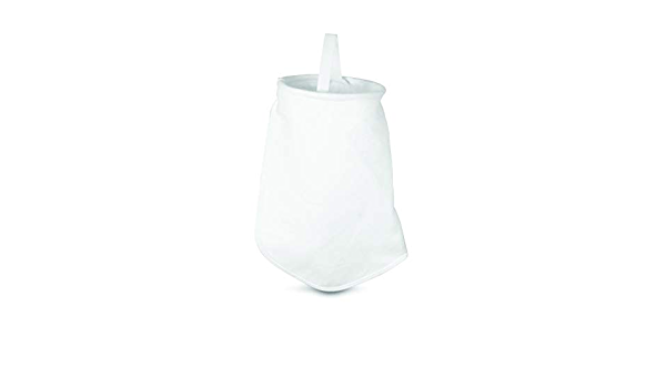 """Pack of 50 Inc White 7/"""" x 16/"""" PE-15-P1S Polyester Felt Filter Bag Rosedale Products"""