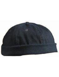 Original Dockland Wollmütze Heavy Brushed Cotton Worker Cap mit Lüftungslöchern in Einheitsgrösse und 5 Farben Schwarz Myrtle Beach