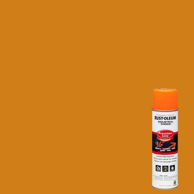 Industrial Choice M1600/M1800 System Precision-Line Fluorescents Orange Inverted Marking Paint [Set of 12]