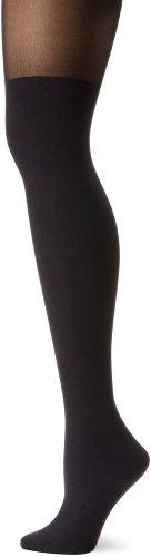 Pretty Polly Women's Suspender Tights, Black, One Size
