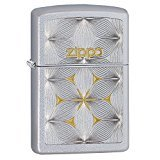 (Zippo Flower Patten Pocket Lighter, Satin)