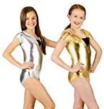 hild Hooded Cap Sleeve Leotard,N8447CGOLM,Gold,Medium