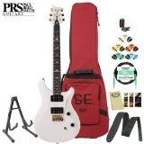 Paul Reed Smith SE Dave Navarro Jet White Electric Guitar Kit - Includes: Tuner, Cable, Strap, Stand, Picks and PRS Gig Bag
