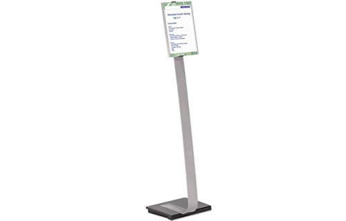 Info Sign Duo Floor Stand Letter Size Inserts 15 x 46 1/2 Clear (Info Sign Duo Floor)
