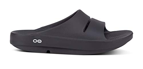 OOFOS Unisex Ooahh Slide Sandal,Black,14 B(M) US Women / 12 D(M) US Men