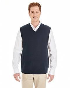 Sweater Vest Performance V-neck (Harriton Mens Pilbloc V-Neck Sweater Vest (M415) -DARK NAVY -3XL)