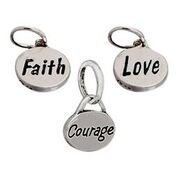 Courage Charms Expandable Bangle Bracelet