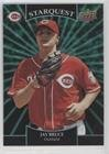 Jay Bruce (Baseball Card) 2009 Upper Deck - Starquest - Emerald Super Rare #SQ-43 (Single Emerald Card Rare)
