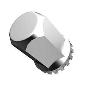 QuickSilver Big Iron Model Truck Hex Nut Covers 33mm (Chrome Hex Bolt Cover)