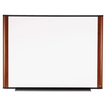 Whiteboard Frame Mahogany - 3M-Melamine Dry Erase Board, 48 x 36, Mahogany Frame