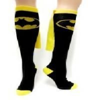 Batman Superhero Black Cape Sock, Womens shoe size 5-10 ()