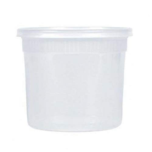 64 OZ Round Deli Food Storage Containers With Lids -10 Pack-