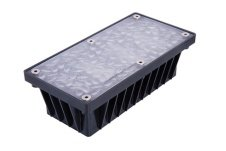 4 inch x 8 inch Solar Brick Paver Landscape Accent Light for Walks, Patios, Driveways & Pool Decks (Residential Outdoor Brick)