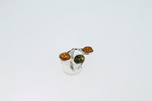 Bague en Ambre 38-07 - Bijoux en argent rhodié et Ambre - Toutes tailles et diverses pierres - ARTIPOL