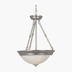 (Craftmade X225-BN Up-Pendant with Frosted Glass Shades, Brushed Nickel Finish)