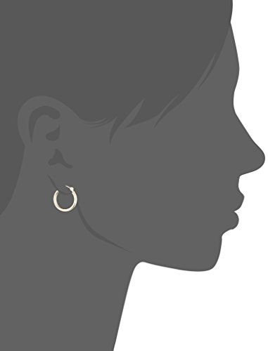"14k Gold Hoop Earrings (0.6"" Diameter)"