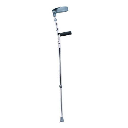 Canes Folding Crutches- Healthcare Double Adjustable Crutches with Plastic Handle 10 Years Pair Elbow (Double Cane)