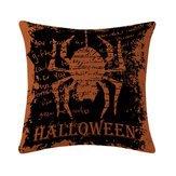Slip Halloween Cotton Linen Pillowcase Cases - Halloween